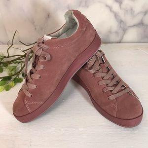 Rag & Bone RB1 Suede Low Top Mauve Pink Sneaker